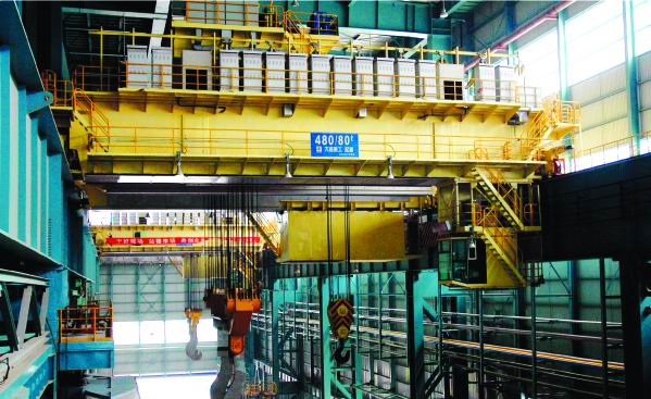 Cardan drive shaft used in 480t ladle cranes