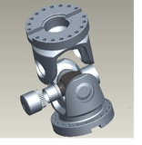 Flange head for propeller shafts